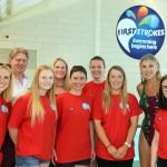First Strokes Ipswich Team with Sharron Davies MBE