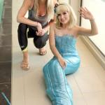 Sharron Davies MBE and The Divine Company Mermaid at First Strokes Swim Schools Ipswich